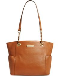 Calvin Klein Pebble Leather Tote - Lyst
