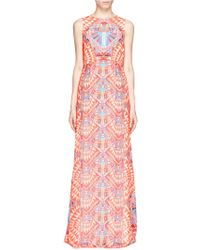 Mara Hoffman Cosmic Fountain Keyhole Back Maxi Dress - Lyst