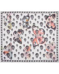 Alexander McQueen | Butterfly Skull Silk Chiffon Scarf | Lyst