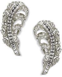 Oscar de la Renta Feather Earrings Feather Earrings - Lyst