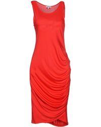 Gianfranco Ferré Knee-Length Dress red - Lyst