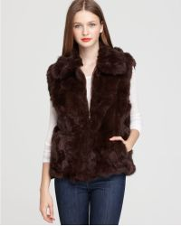 Surell - Long Hair Rabbit Vest - Lyst