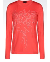 Emporio Armani T-Shirt In Printed Jersey - Lyst