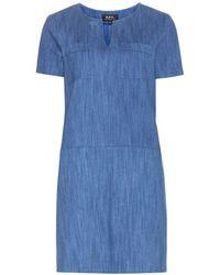 A.P.C. - Naples Denim Dress - Lyst