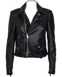 Saint Laurent | Buckled Leather Biker Jacket  | Lyst