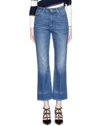 Alexander McQueen | Vintage Wash Cropped Flare Jeans | Lyst