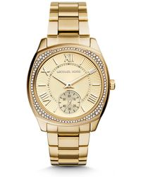 Michael Kors Bryn Gold-Tone Watch - Lyst