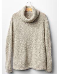 Gap Boucle Turtleneck Sweater - Lyst