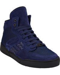Bottega Veneta Intrecciato Hightop Sneakers - Lyst