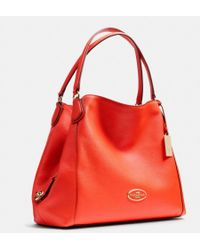 Coach Edie Shoulder Bag In Pebble Leather - Lyst