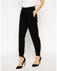 Asos Woven Cuffed Trousers - Lyst