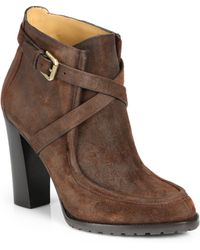 Ralph Lauren Collection Modina Suede Ankle Boots - Lyst