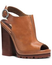 Michael Kors Patras Leather Platform Sandal - Lyst