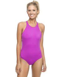 Oakley - Core Solids One Piece Swimsuit - Lyst