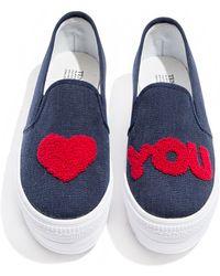 Pixie Market - Love You Denim Sneakers - Lyst