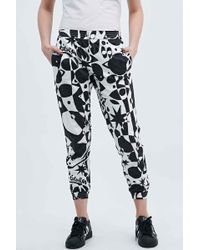 Lulu & Co - Sun Ra Joggers In Black And White - Lyst