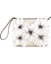 Marni Flower Appliqué Clutch - Lyst