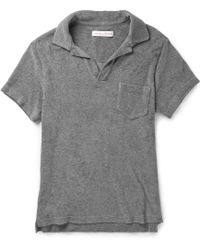 Orlebar Brown Cotton-terry Polo Shirt - Lyst
