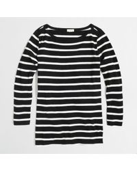 J.Crew Factory Three Quarter Sleeve Boat Neck Tee in Stripe - Lyst