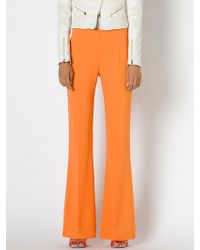 Patrizia Pepe High Waisted Flared Trousers In Viscose Crepe - Lyst