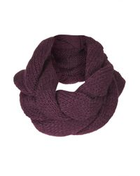 Topshop Purple Plaited Snood - Lyst