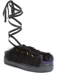 Undercover - Rabbit Fur Sandals - Lyst