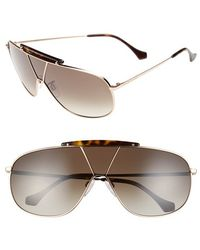 Balenciaga 66Mm Shield Sunglasses pink - Lyst