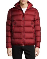 Moncler Chauvon Hooded Puffer Jacket purple - Lyst