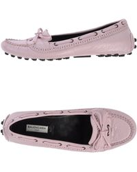Balenciaga Pink Moccasins - Lyst