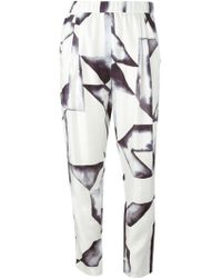 3.1 Phillip Lim Geometric Print Trousers - Lyst