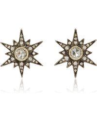 Arman Sarkisyan - Medium Starburst Stud With Rosecut Diamond Centre - Lyst