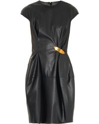 Lanvin Faux-Leather Dress - Lyst