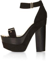 TOPSHOP - Lark Metal Platform Shoes - Lyst