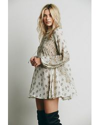 Free People Hi Neck Printed Tunic - Lyst