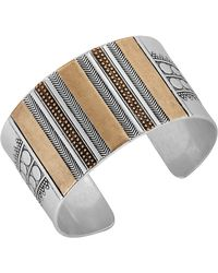 Lucky Brand - Two-tone Cuff Bracelet - Lyst