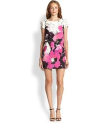 Milly Chloe Winter Orchid Printed Dress - Lyst