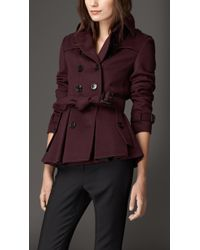 Burberry Wool Cashmere Trench Jacket - Lyst