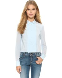 O'2nd - 1 By Newtagio Button Down - Light Blue - Lyst