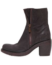 Rocco P 90Mm Zipped Suede Boots - Lyst