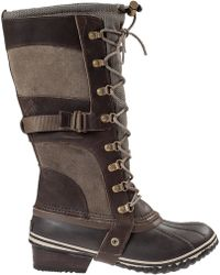 Sorel Conquest Carly Tall Boot Brown Leather - Lyst