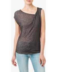 7 For All Mankind Double Knit Tee - Lyst
