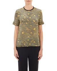 Maiyet Batik-pattern Short-sleeve Top - Lyst