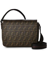 Fendi Brown Small Messenger Bag - Lyst