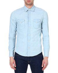 Sandro Denim Shirt Blue Vintage Denim - Lyst