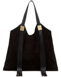 Ella Moss North South Suede Tote Bag - Lyst