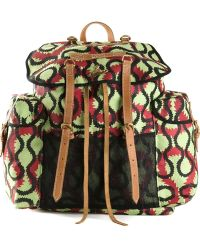 Vivienne Westwood Squiggle-Print Cotton Backpack - Lyst