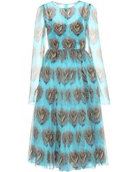 Dolce & Gabbana Silk Printed Dress - Lyst