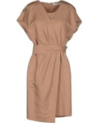 Viktor & Rolf Short Dress beige - Lyst