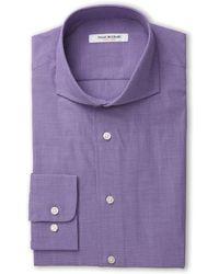 Isaac Mizrahi Purple Slim Fit Dress Shirt - Lyst