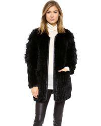 Elizabeth And James Tarra Solid Fur Coat  - Lyst